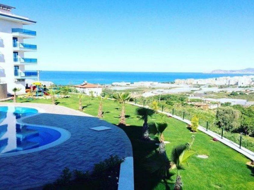 Apartments on beach sea in Turkey