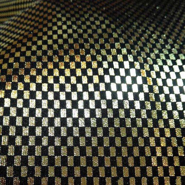 Printed Textile with colored Varak design
