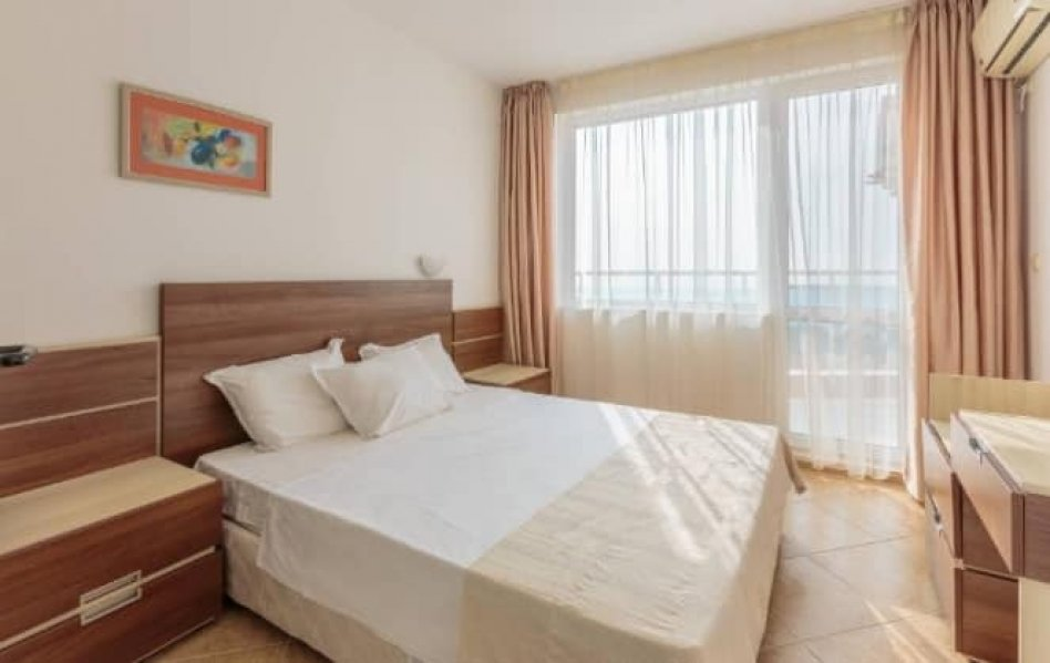 Propose for sale apartment on 4 floor of wonderfull complex first line Ravda city in Bulgaria.