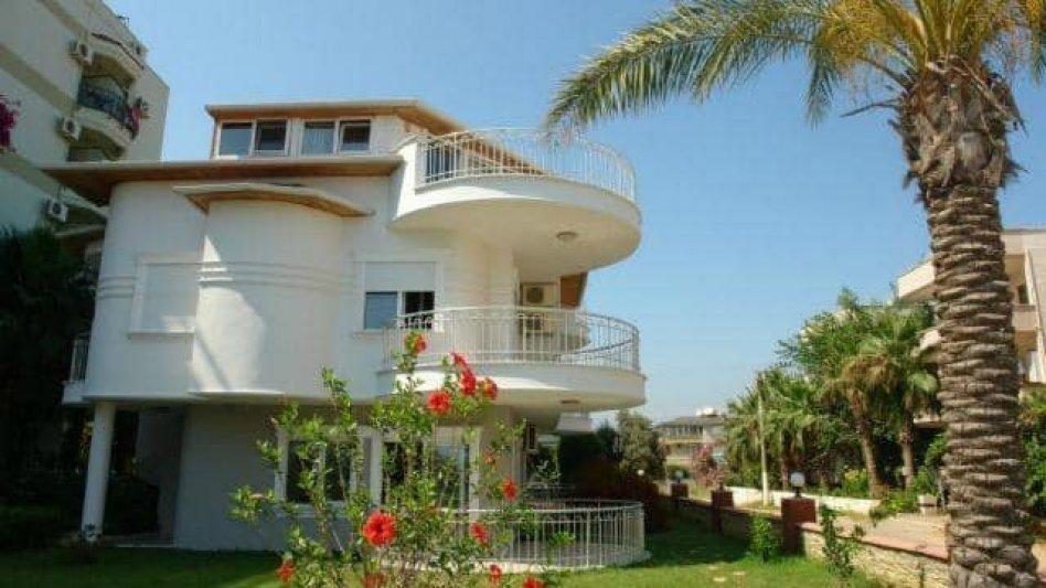 Villa on beach sea in Turkey