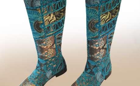 "Suzani  ""ZEYZANI"" - Embroidered Boots  Handmade 0-kb-29012"